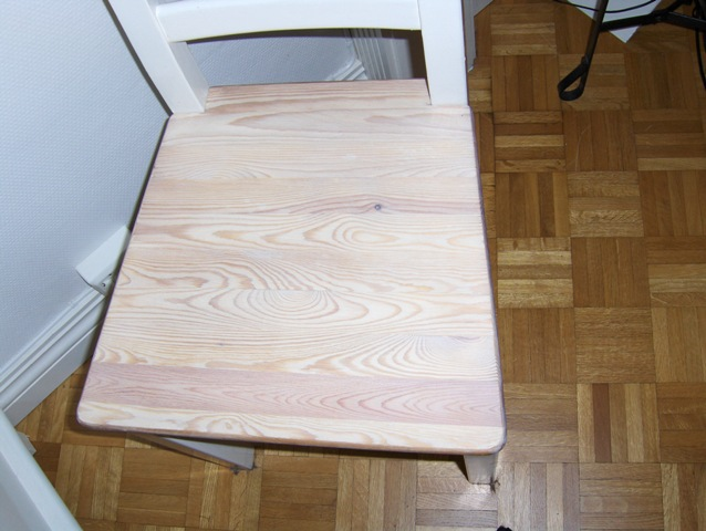 Hvitpigmentert olje møbler