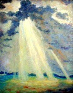 """Sunbeams Through the Clouds"" av Tunis Ponsen"