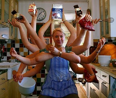 Multitasking Housewife