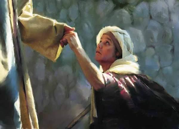 jesus-heals-woman på sabbaten